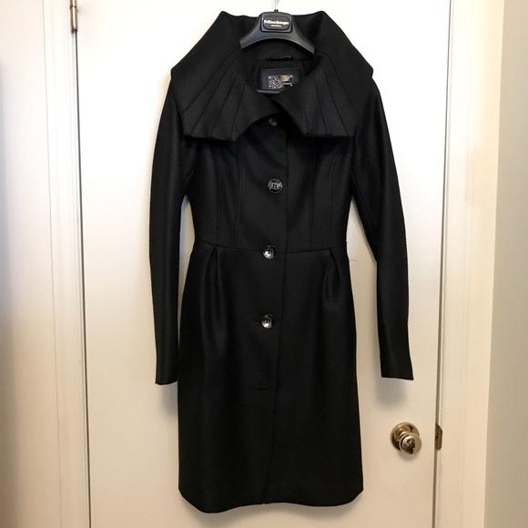 Authentic Mackage black women wool blend coat XS